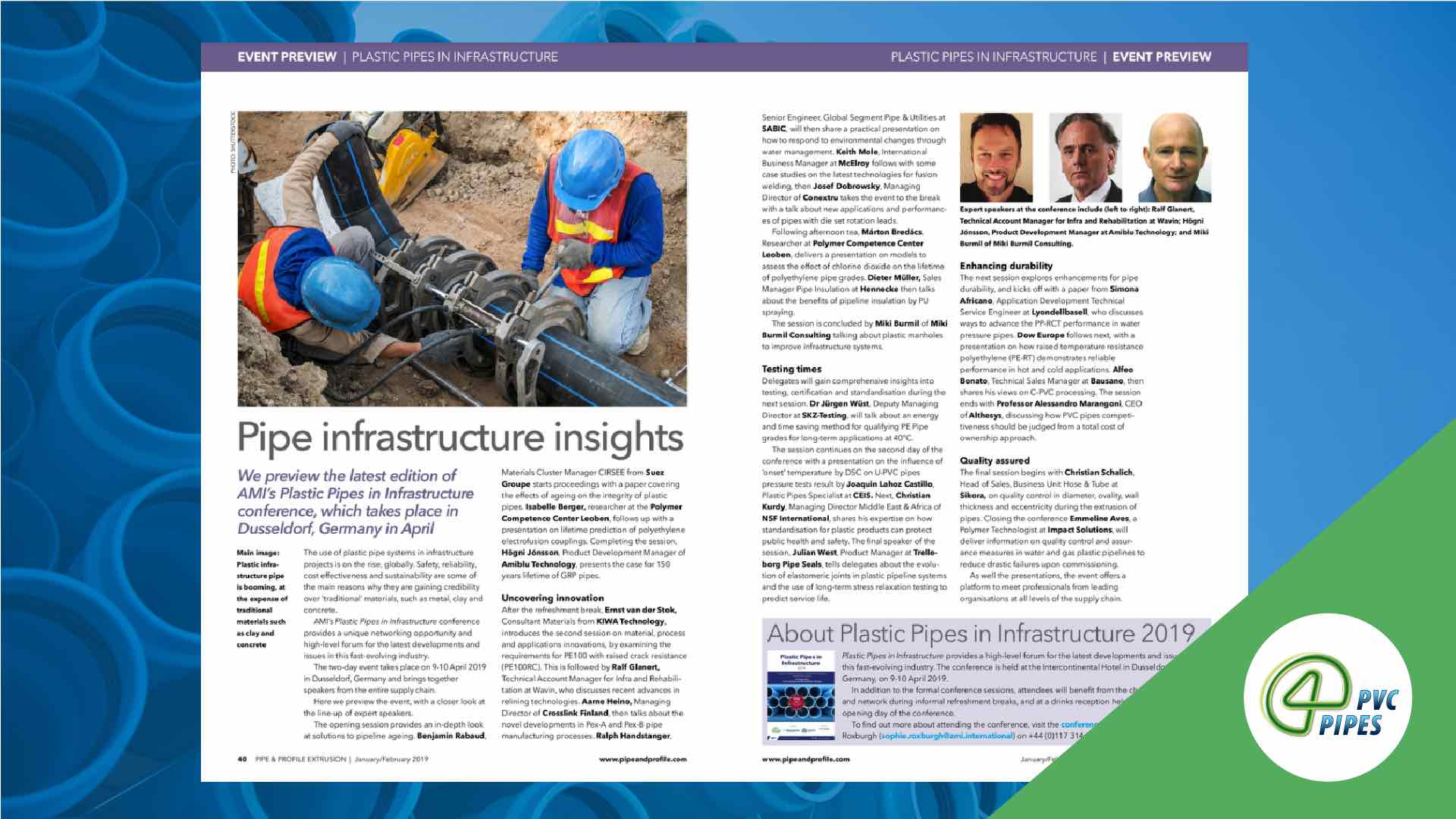 plastic pipes infrastructure 2019