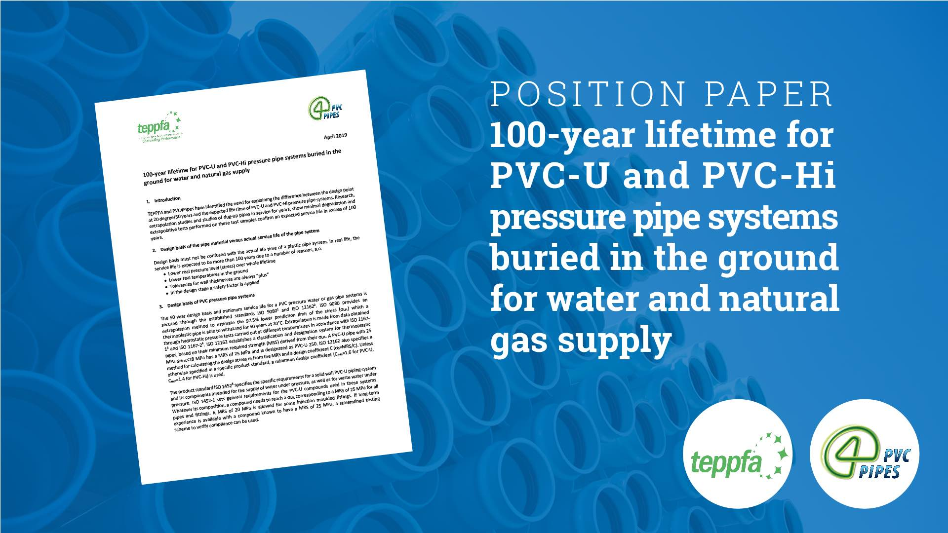 pvc pipes 100 years position paper